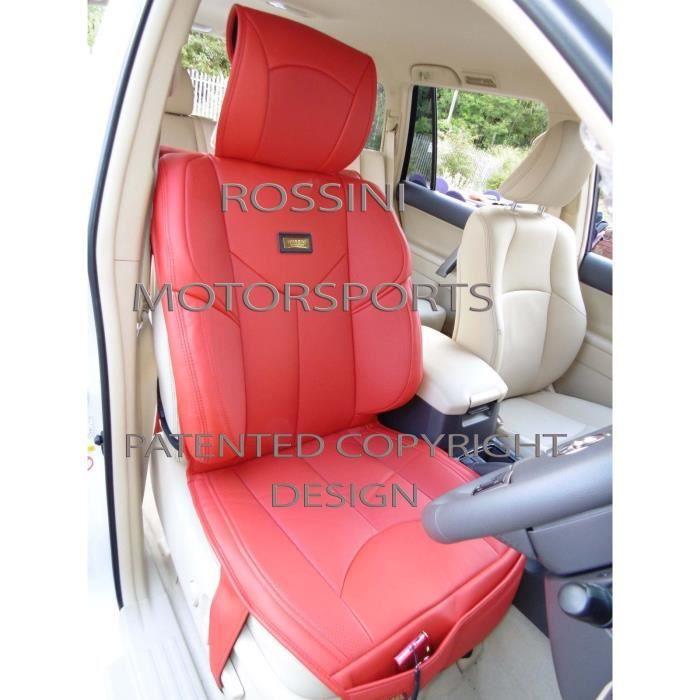 Deux housses de siège, adapté pour BMW SERIE 3, YMDX ROUGE.