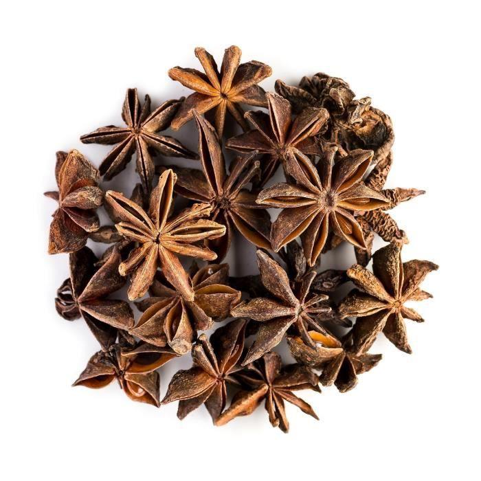 Anis Étoilé Bio Graine Tisane - Idéal En Cuisine - Riche, Sucrée - Badiane Chinoise Ou Illicium Verum - Anise Star Graines 100g