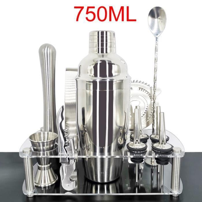 Accessoires bar,Ensemble de cuillères à Cocktail 750ml-550ml Cuillère à mélanger, pince pince outils de - Type TT12Pcs 750ml Rack