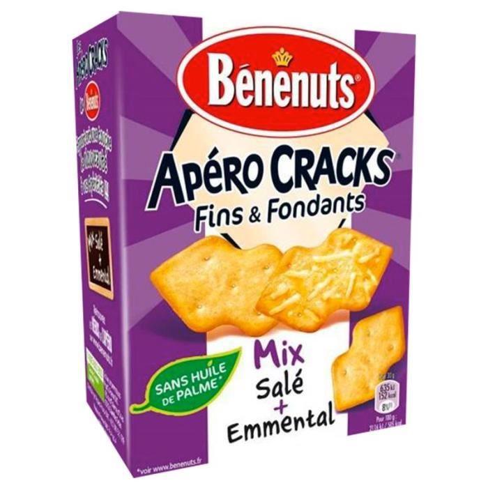 Bénénuts Apéro Cracks Mix Salé et Emmental 85g (lot de 10 x 3 boîtes)