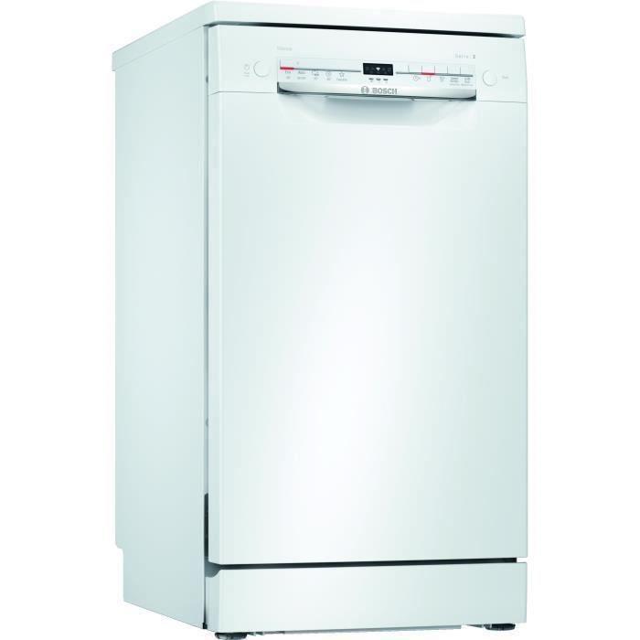 Lave-vaisselle pose libre BOSCH SPS2IKW04E - 9 couverts - Moteur induction - L45cm - 48 dB - Blanc