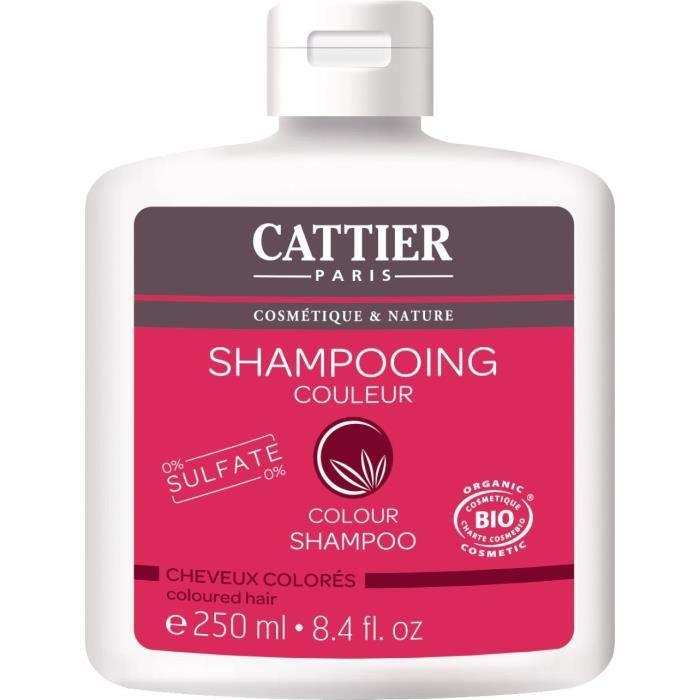 CATTIER Shampooing Sans Sulfates Cheveux Colorés Bio 250 ml