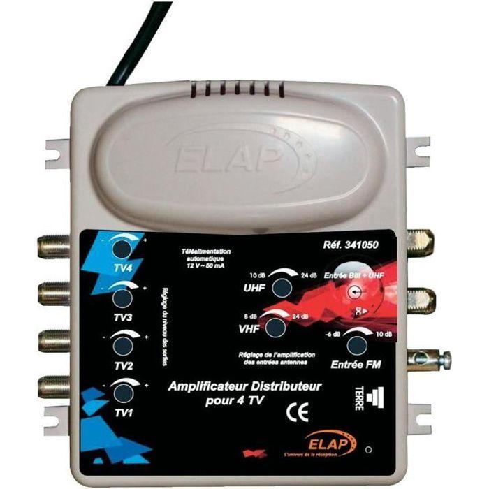 Amplificateur distributeur TV et FM 2 entrées/4…