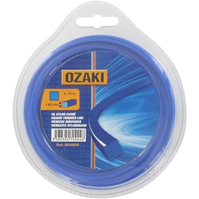 Coque fil nylon carré OZAKI - Longueur: 15m, Ø: 2,00mm