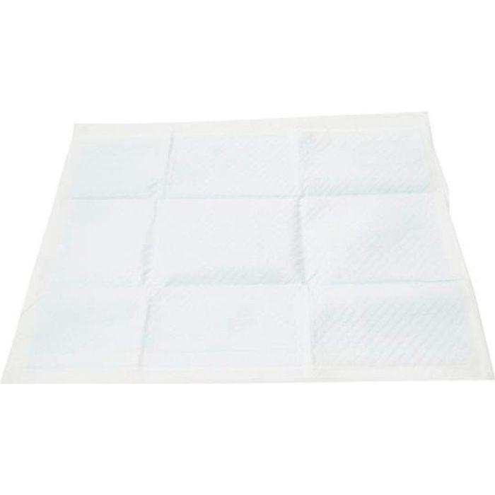 Iris Ohyama, Lot de 60 tapis éducateurs super absorbants jetables-Apprentissage de la propreté pour chiot - Pet Pad NS-60W - 60 x