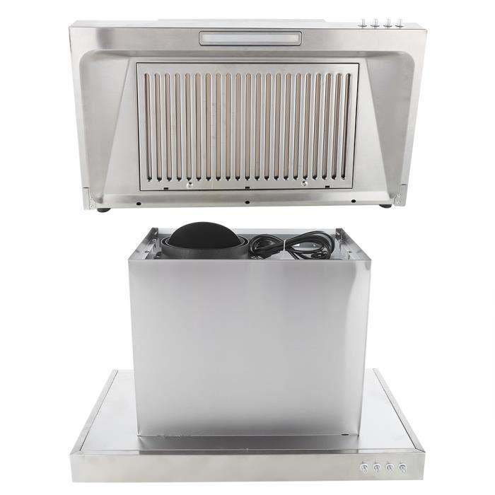 Filtre Hotte Hotte murale à flux d'air Hotte aspirante Appareils de cuisine ménagers (prise UE 220 V)