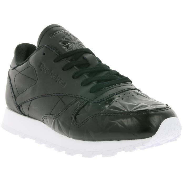 Reebok Classic Leather Hype Metallic en cuir Femmes réel sneaker en cuir noir BD4887