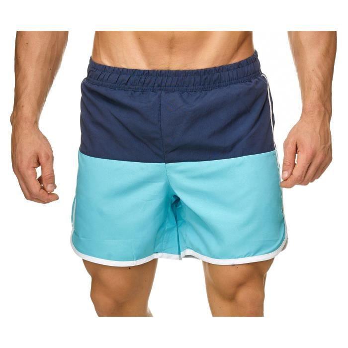 Pantalon de bain pour hommes de bain filet de natation H2322 [Bleu clair, S]