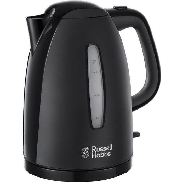 Russell Hobbs 21271 Textures Noires Bouilloire Électrique Sans Fil 3000W 1.7L