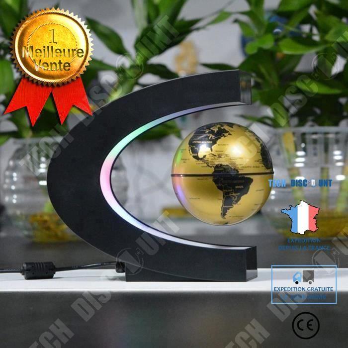 TD® Globe de lévitation magnétique décoration intérieure tendance moderne design unique globe flotte air cadeau original unique