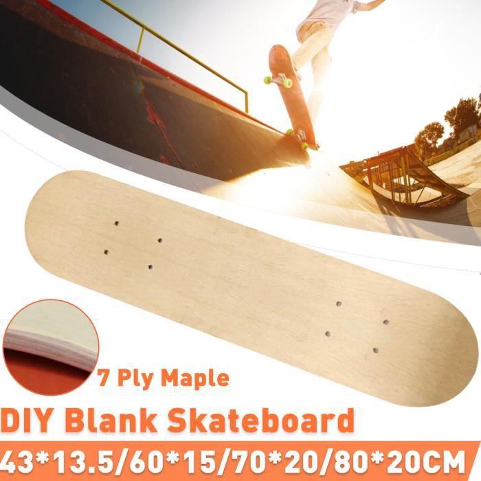 TEMPSA 1PCS Planche à Roulette Skate-board 7 Couches d'érable DIY 43X13.5cm