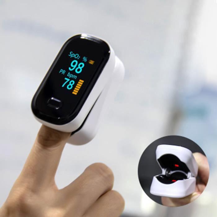 TEMPSA Clip Finger Oxymètre de Pouls Rythme Cardiaque Détecter Mètre Moniteur Doigt Impulsion d'oxygène