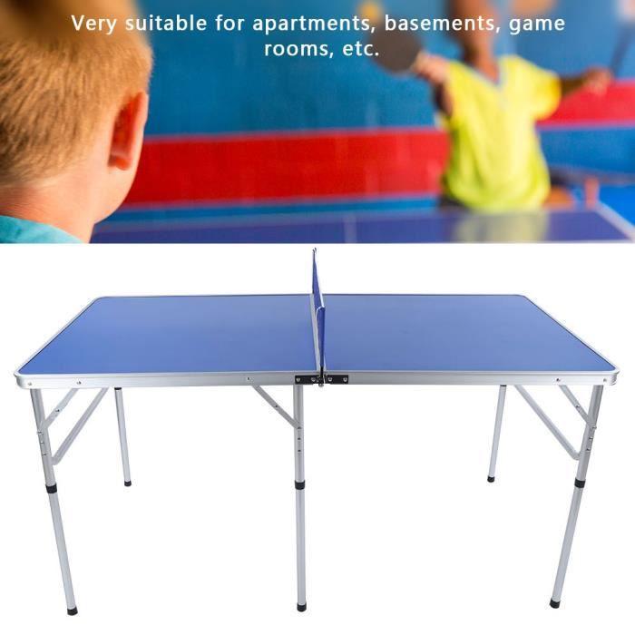 Accessoire d'intérieur durable de ping-pong réglé avec la table pliable nette de tennis de table -LUS
