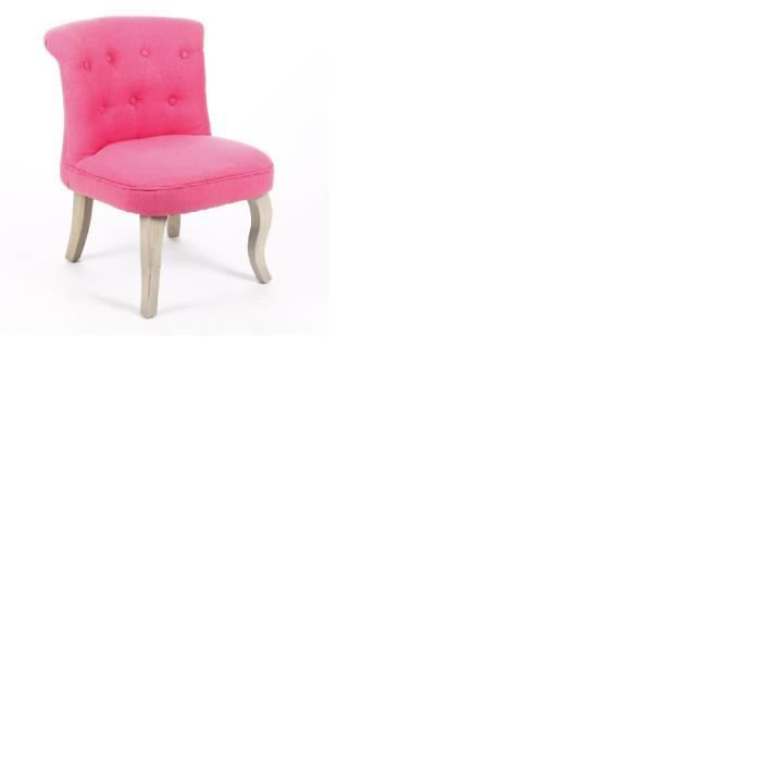 fauteuil crapaud lin et coton coloris rose achat vente chaise rose cdiscount. Black Bedroom Furniture Sets. Home Design Ideas