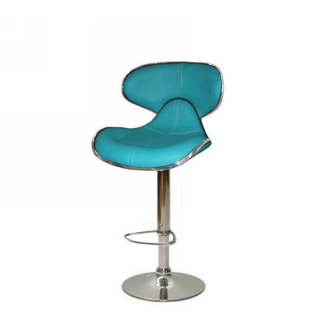 tabouret de bar turquoise torra meuble house achat. Black Bedroom Furniture Sets. Home Design Ideas
