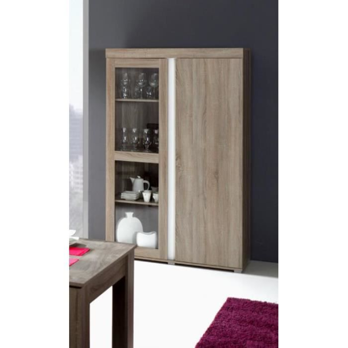 vitrine argentier vaisselier avignon design 2 portes achat vente buffet bahut vitrine. Black Bedroom Furniture Sets. Home Design Ideas
