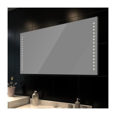 miroir de salle de bain avec clairage led 100 x 60 cml x. Black Bedroom Furniture Sets. Home Design Ideas