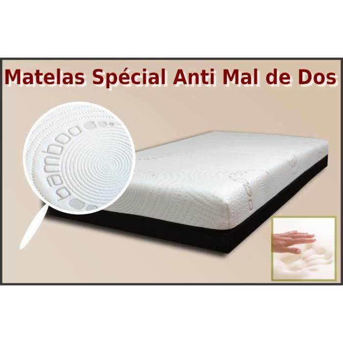 matelas m moire de forme bambou 140x190cm 12 8cm v achat vente matelas cdiscount. Black Bedroom Furniture Sets. Home Design Ideas
