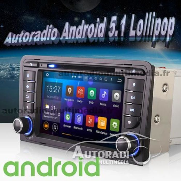 autoradio android pour audi a3 achat vente autoradio. Black Bedroom Furniture Sets. Home Design Ideas