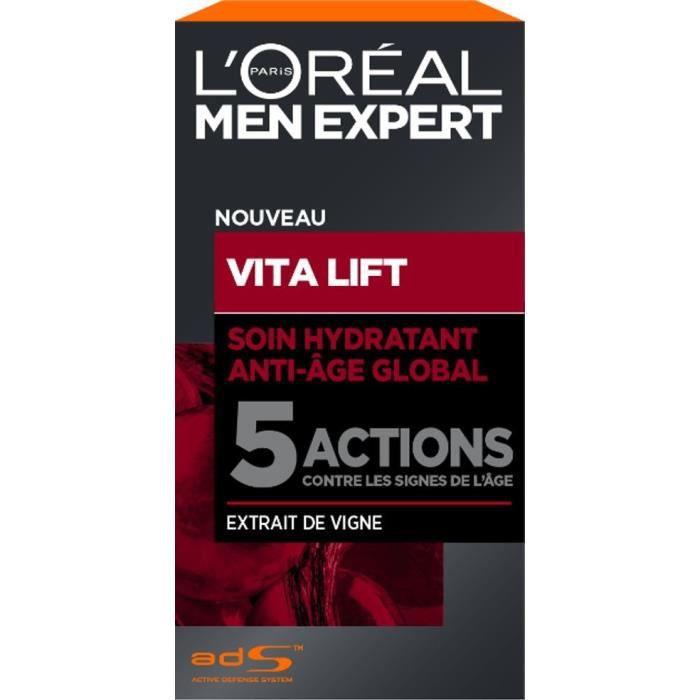 DÉMAQUILLANT NETTOYANT MEN EXPERT - Vitalift Homme Soin Hydratant Anti-âg