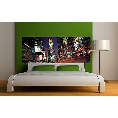 Sticker t te de lit d coration murale new york r f 3605 for Decoration murale pour tete de lit