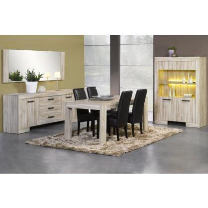salle manger contemporaine compl te sydney achat. Black Bedroom Furniture Sets. Home Design Ideas