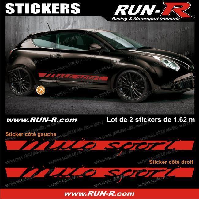 2 Stickers Alfa Romeo Mito Sport 162 Cm