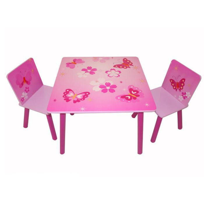 table et chaise enfant papillon achat vente table et. Black Bedroom Furniture Sets. Home Design Ideas