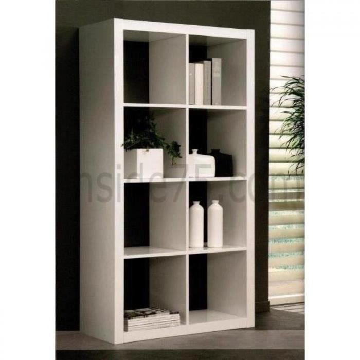 gloss bibliotheque etagere laque blanc design m achat. Black Bedroom Furniture Sets. Home Design Ideas