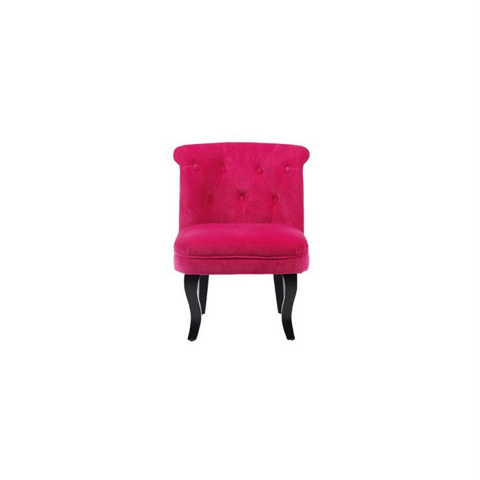 fauteuil crapaud rose lot de 2 achat vente fauteuil velours cdiscount. Black Bedroom Furniture Sets. Home Design Ideas