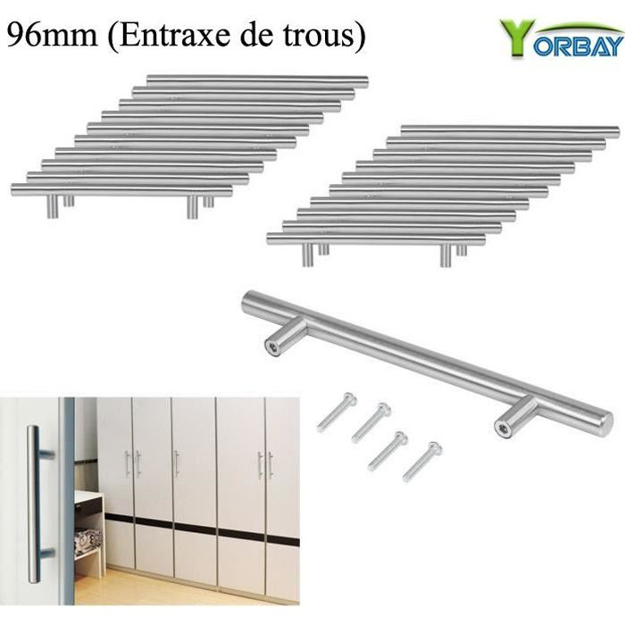 Hardware Meubles en acier inoxydable Bouton de placard tiroir armoire 29/mm