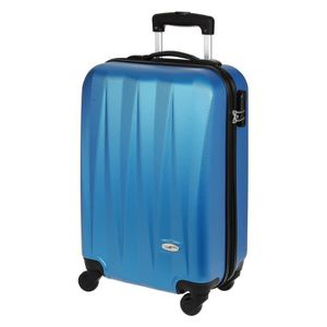 CASINO Valise trolley ABS - 50cm - 4 roues - Bleu