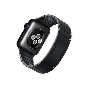 BRACELET MONTRE CONNEC. Apple Watch MJ3F2 38mm noir avec bracelet en lien