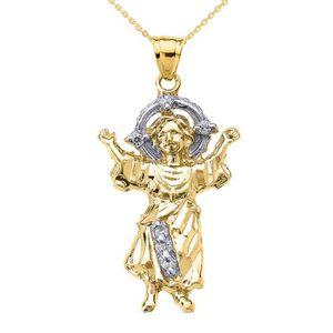 SAUTOIR ET COLLIER Collier Femme Pendentif 14 Ct Or Jaune Bébé Jésus