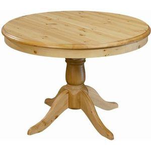 TABLE À MANGER SEULE Table ronde en pin 110 cm avec rallonge 40 cm