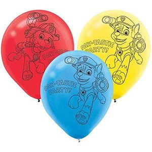 BALLON DÉCORATIF  Sachet de 6 Ballon Pat Patrouille - Paw Patrol Déc