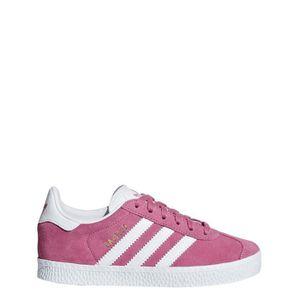 BASKET Adidas Baskets Fille Gazelle C Blanc-Rose