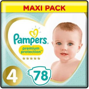 COUCHE PAMPERS Premium Protection Taille 4 - 78 couches -