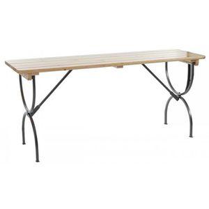 Table de jardin bois metal