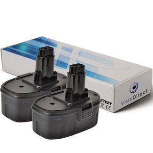 BATTERIE MACHINE OUTIL Lot de 2 batteries pour BSA82KA perceuse visseuse