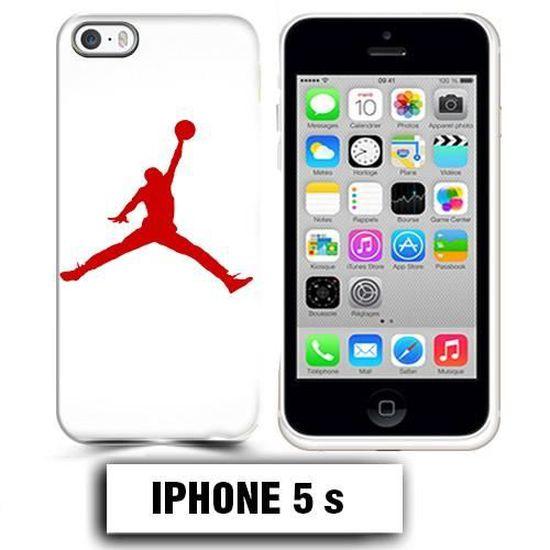 Coque iphone 5 5S air Jordan basket 23 rouge