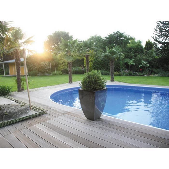 Kit piscine enterrée AQUALUX acier ovale 5.25x3.2x1.2m