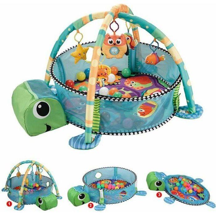 Tapis D'éveil Bébé, Tapis de Jeu Bébé avec Jouets, Tapis de Jeu de Sécurité pour Bébé et Enfant