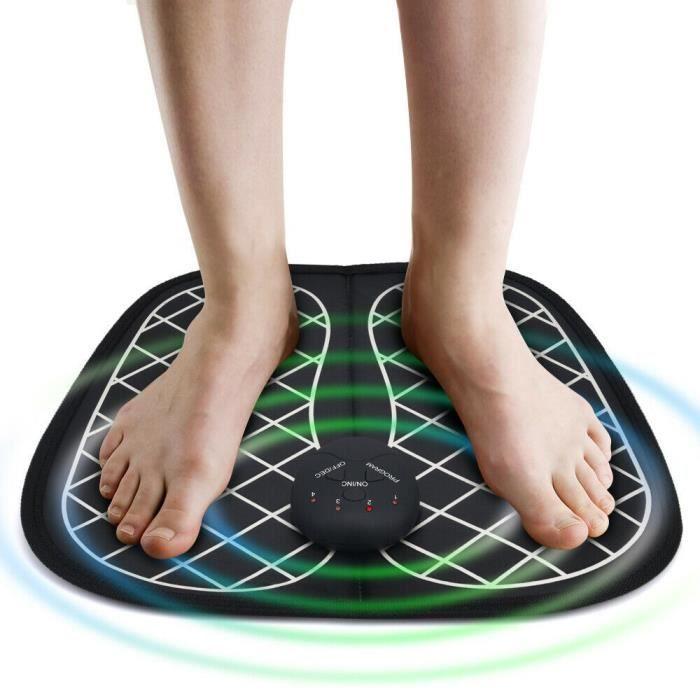 EMS Physiothérapie Tapis de massage des pieds Vibrations électriques Acupoints Massager Soulagement