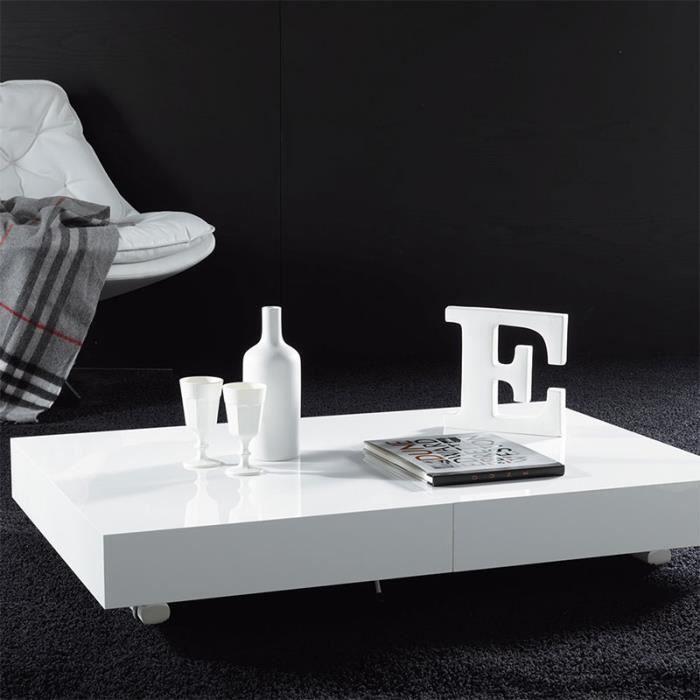 Table basse relevable couleur wengé ALFONSO Option 6