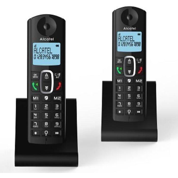 TÉLÉPHONIE, Téléphones, Téléphone sans fil, Alcatel Dect F685 Duo Black