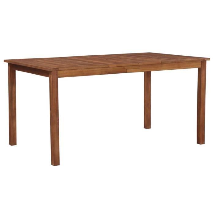 IPKDLA® Table de Jardin de terrasse extérieure Buffet Jardin Camping fête - 150x90x74 cm Bois d'acacia massif KLABKY