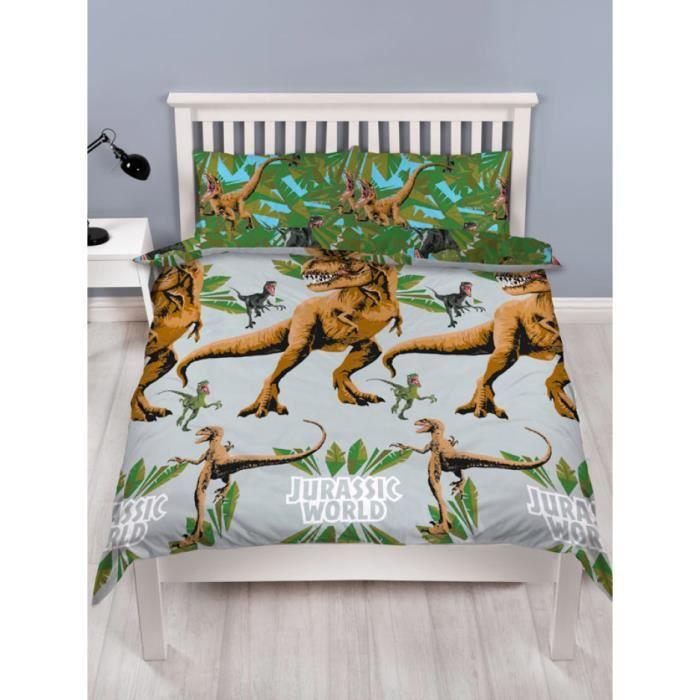 Jurassic World Jungle Double Housse De Couette Et Taie D'oreiller