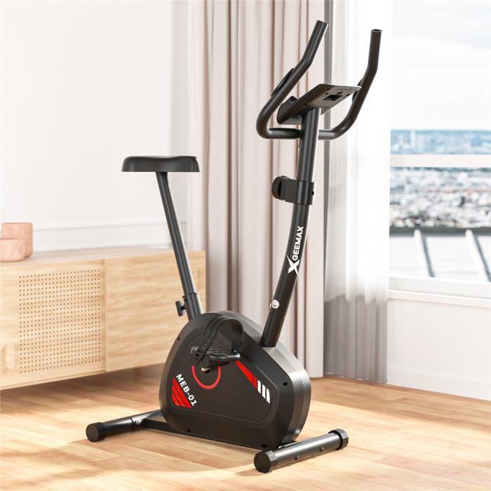 NEUFU Vélo d'Appartement Magnétique -Max120KG Grand Ecran 8 Niveaux Résistance Réglable - Inertie 4KG -Livré Manuel Français