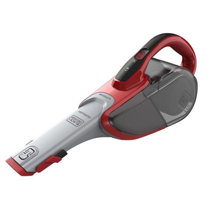 BLACK+DECKER DVJ315J-QW Aspirateur à main sans sac – 10.8V – 500 ml